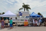 Sponsor Banners at the 2014 Captain's Kickoff Party at Bay Pines Marina