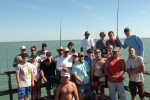 The landlubber crew gathers for their annual group photo during Week 2 of the 2014 Suncoast Tarpon Roundup