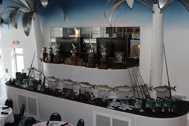 Trophies on display for the 81st Annual Suncoast Tarpon Roundup
