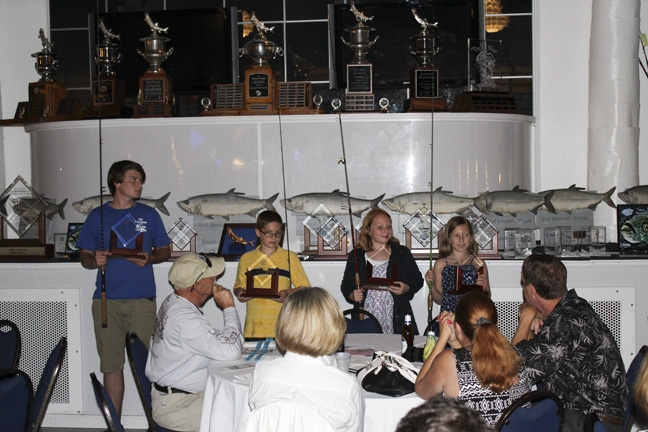 The 2015 Junior Anglers!  A.J. K. Cayden C., Katie M., Kelsie M., Hunter R. and Kenny B. II