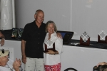 Bill and Debbie M., doubles division winners with 84 releases